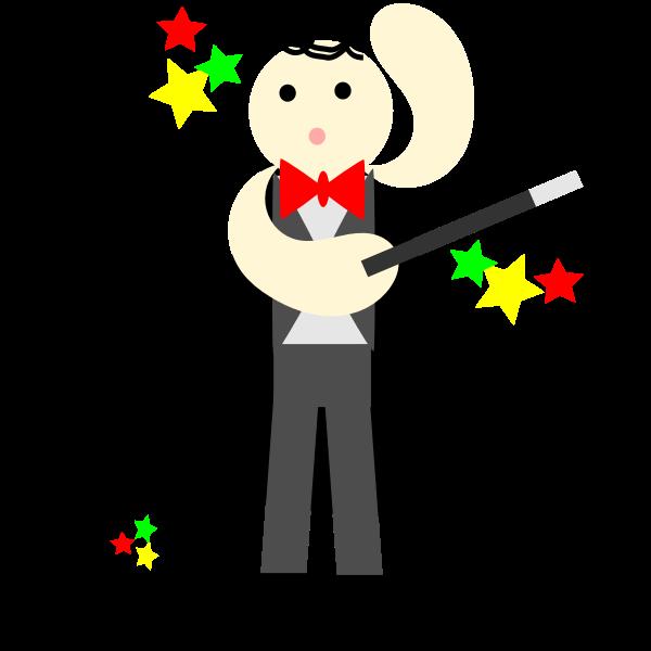 Happy magician vector illustration