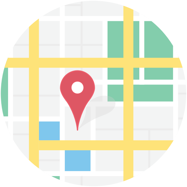 Vector clip art of location on map sign