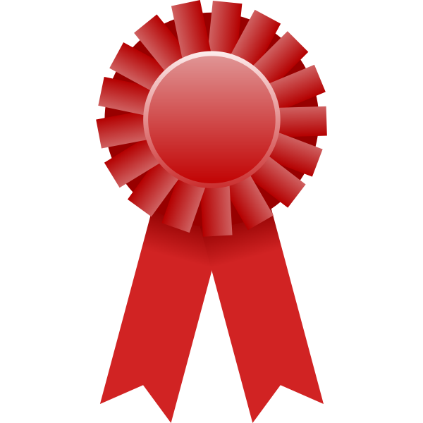 Vector drawing of red rosette