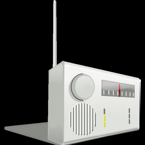 Kitchen radio receiver vector image