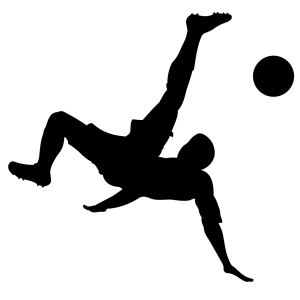Man playing football silhouette vector image