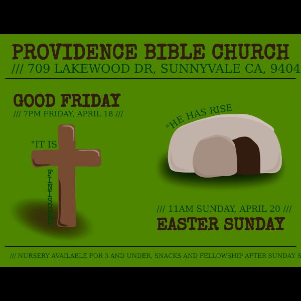 Easter flyer vector illustration