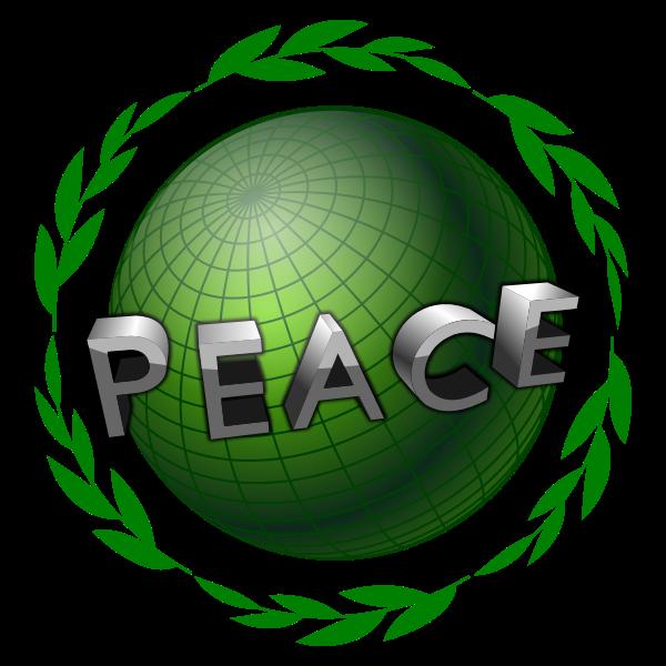 Peace globe vector illustration