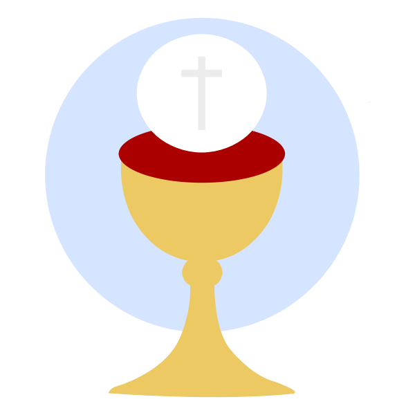 Christian cup of blessing vector image