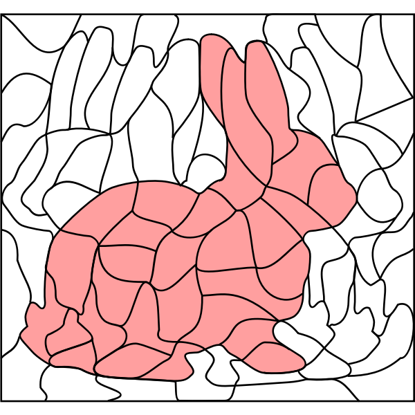 Rabbit in coloring book