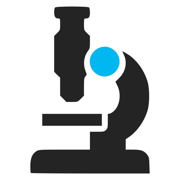 Vector illustration of two color microscope icon