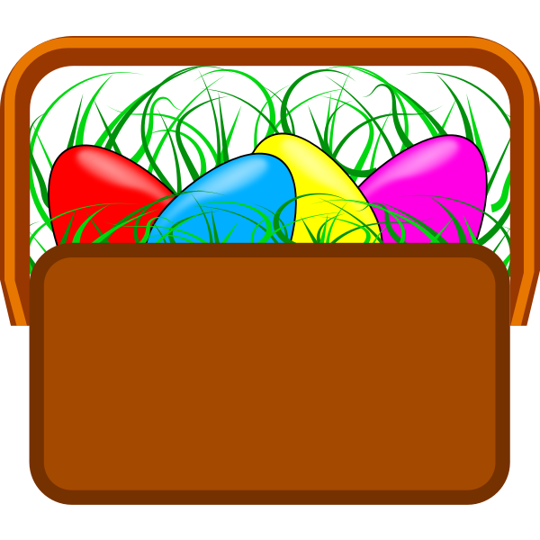 Easter basket vector drawing