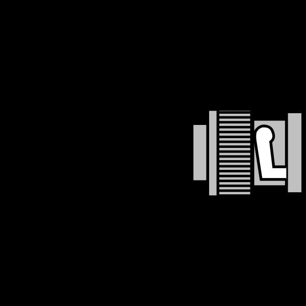 BNC male plug vector image