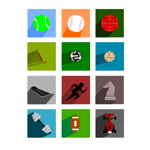 Selection of sports sign icons vector illustration