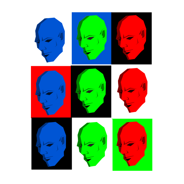 Simple face in different colors vector image