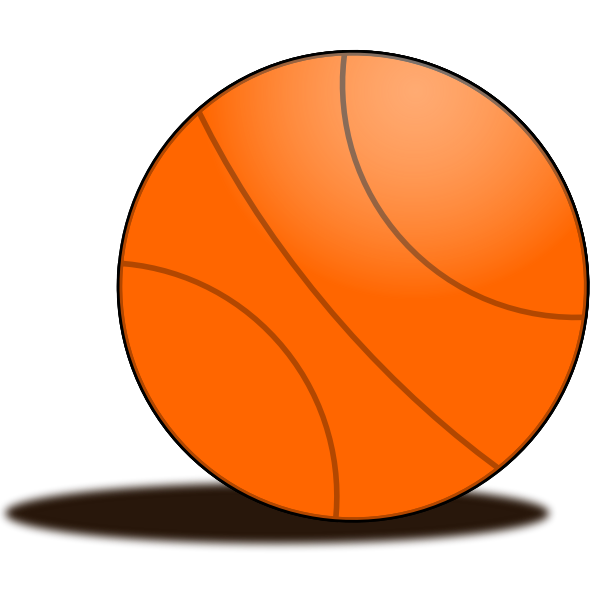 Basketball ball vector drawing