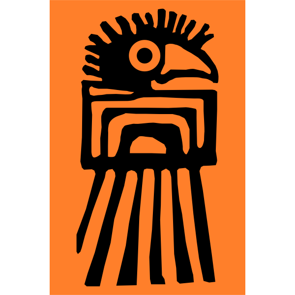 Vector clip art of indigenous of Colombia symbol