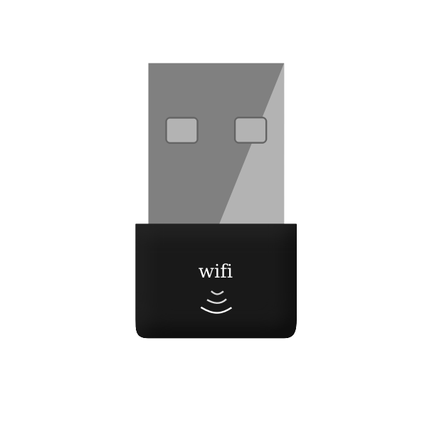 USB Wi-Fi adapter vector image