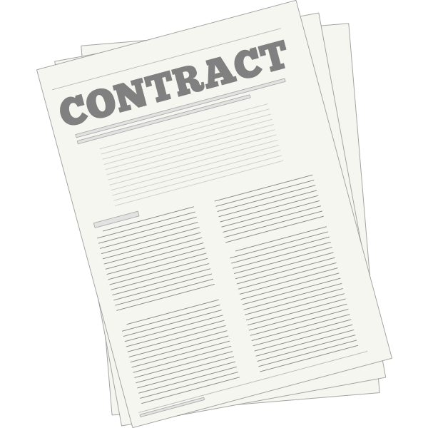 Vector drawing of legal contract icon