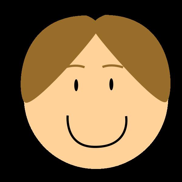 Cartoon smiling boy head vector image