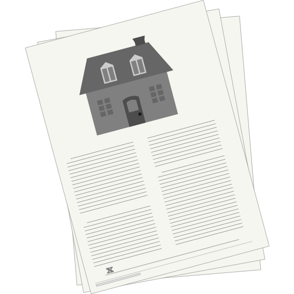 Vector drawing of mortgage agreement