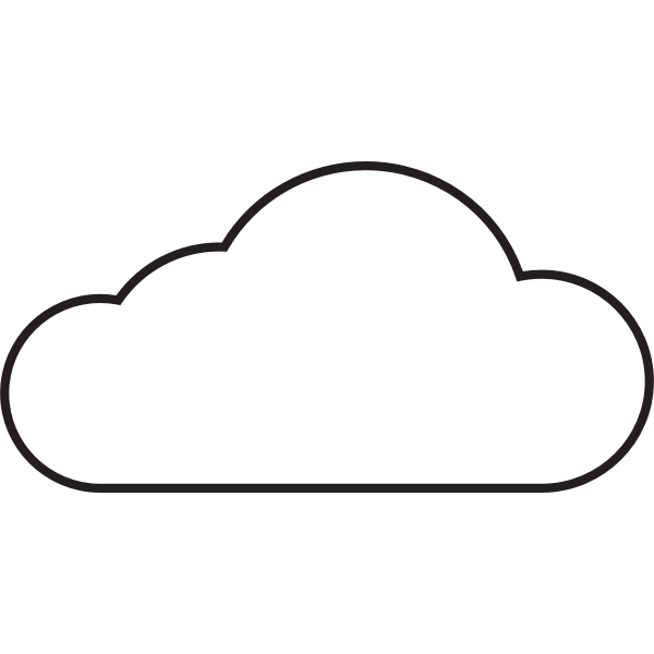 Simple white cloud icon vector graphics