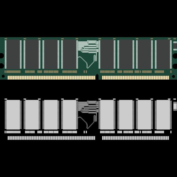 RAM memory card vector image