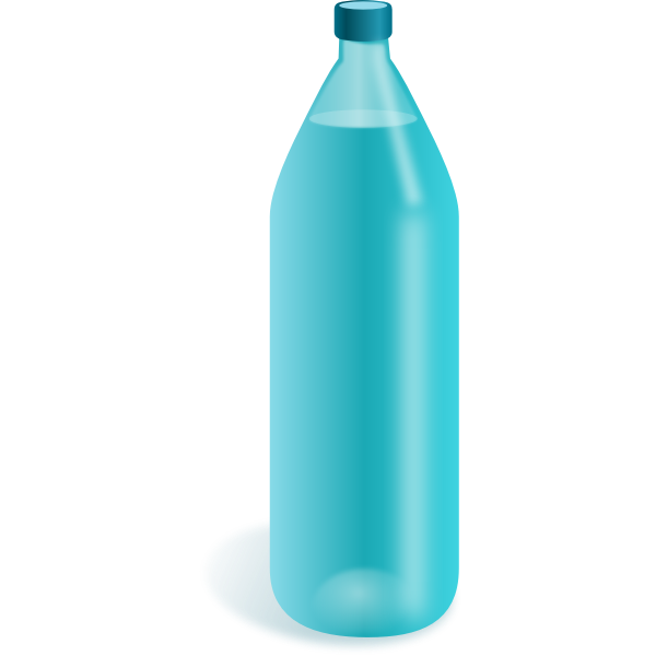 Glass bottle vector drawing