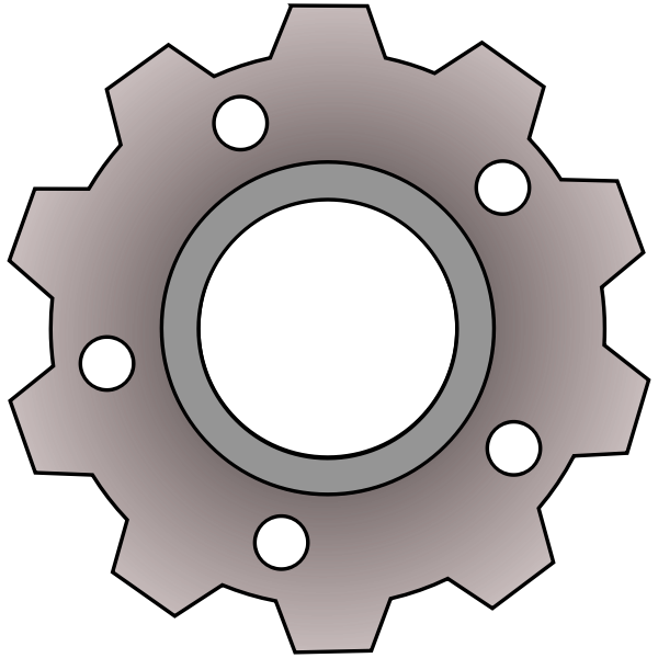 Vector clip art of gear with small holes