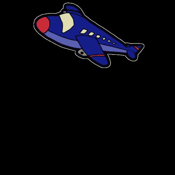 Cartoon vector of jumbo jet