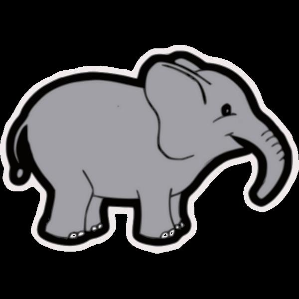 Baby elephant vector clip art