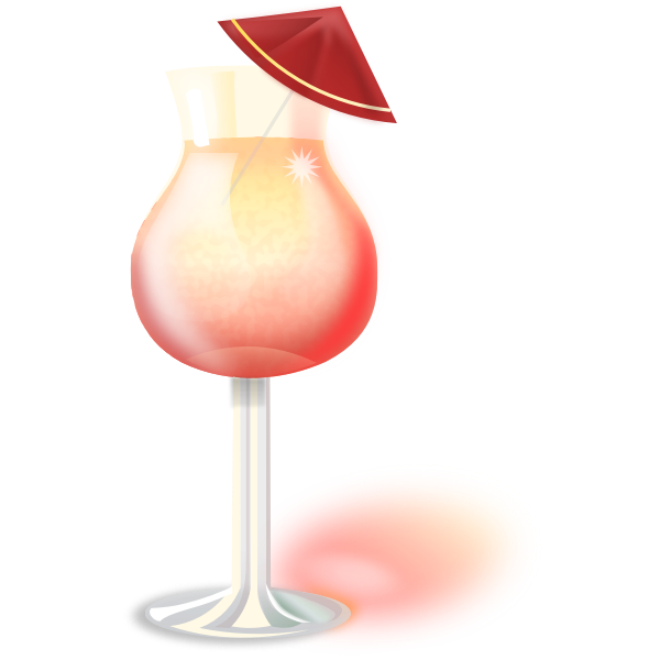 Vector clip art of glass with Martini cocktail