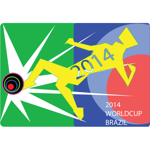 Worldcup 2014 poster vector image