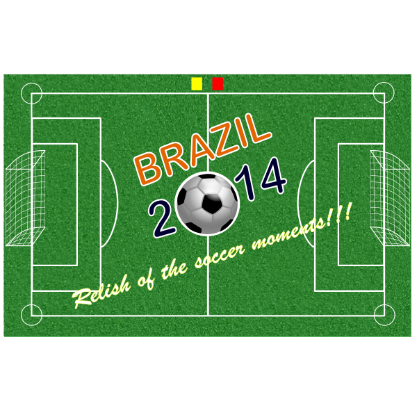 Brazil 2014 soccer poster vector illustration