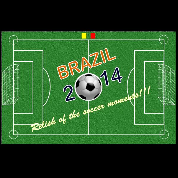 Brazil 2014 soccer poster vector illustration