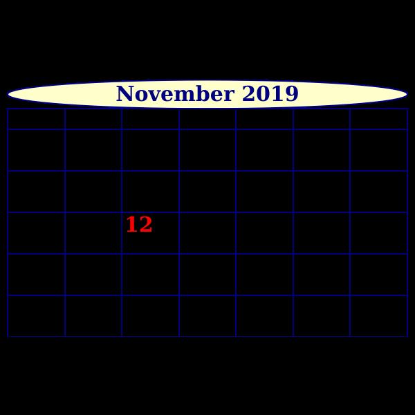 Scripted Month Calendar