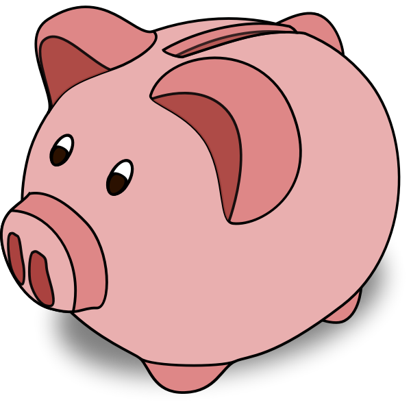 Cartoon piggy bank vector image