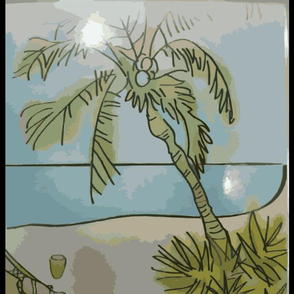Remix of Thai Restaurant Beach Scene