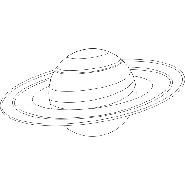 Saturn for coloring
