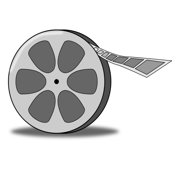 Film reel vector illustration