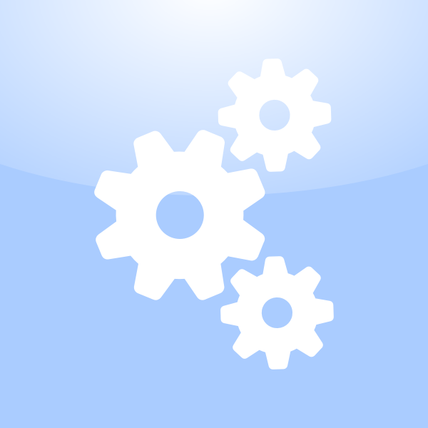 Vector clip art of application settings icon with gears