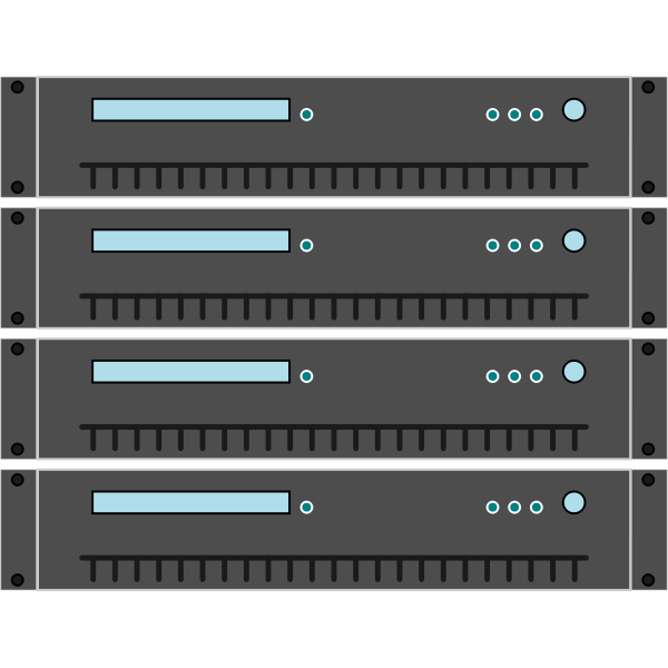Stacked servers vector graphics