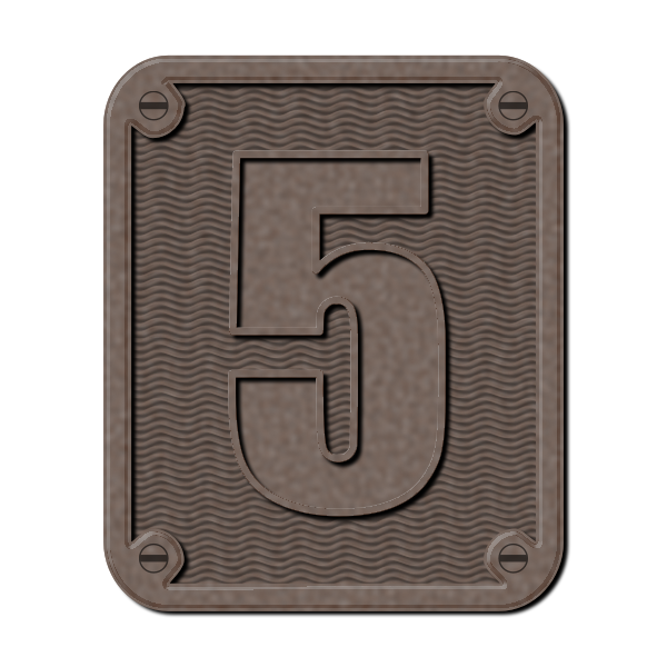 Graphics of metal number five