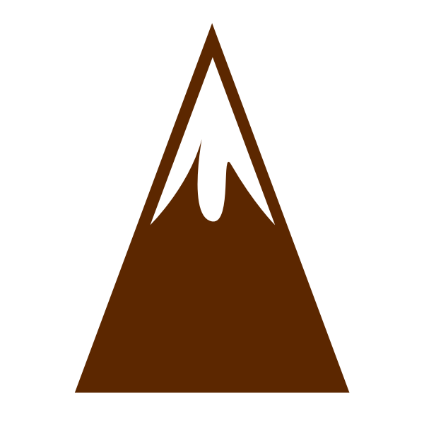 Mountain with snowy peak