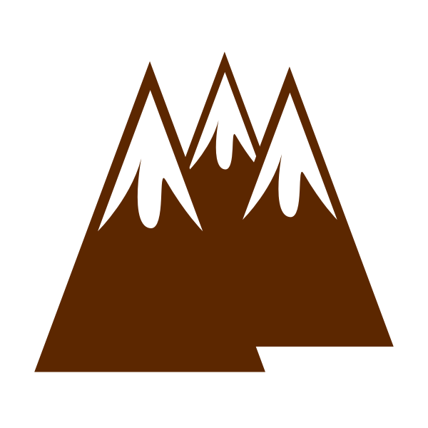 Mountains in brown color