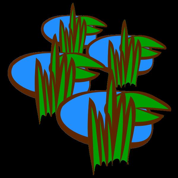 Swamp in vector drawing