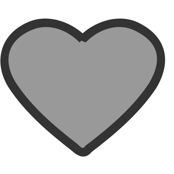 Vector image of thick blue heart icon