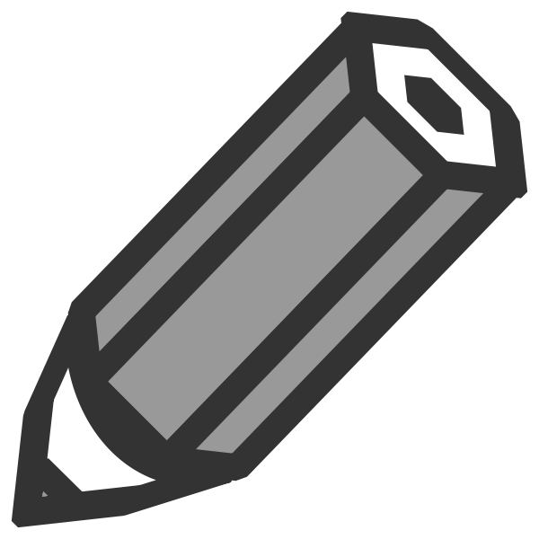Grayscale pencil icon vector illustration