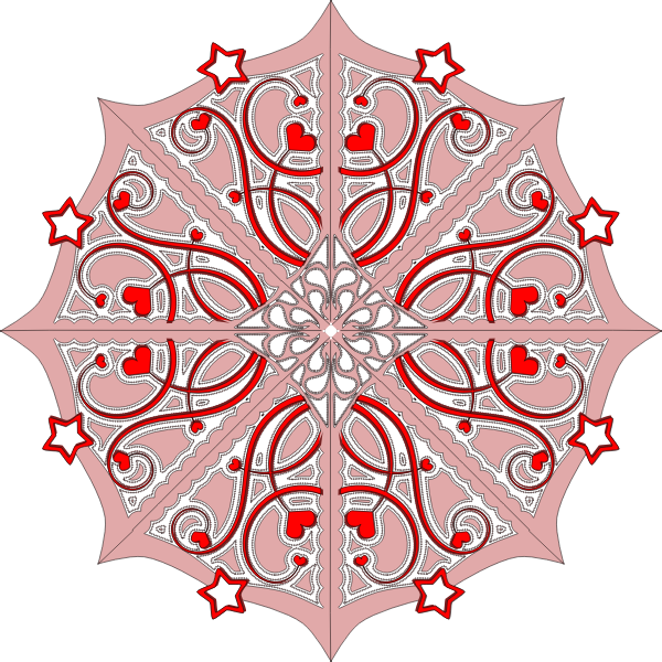 Vector image of decorated snow flake