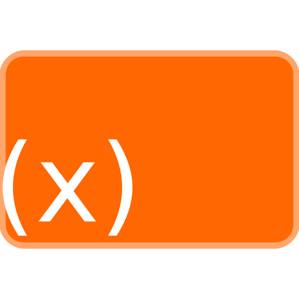 Orange function icon vector image