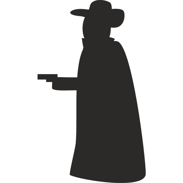 Vector clip art of silhouette of a robber
