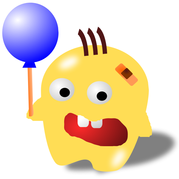 Monster with a balloon vector image