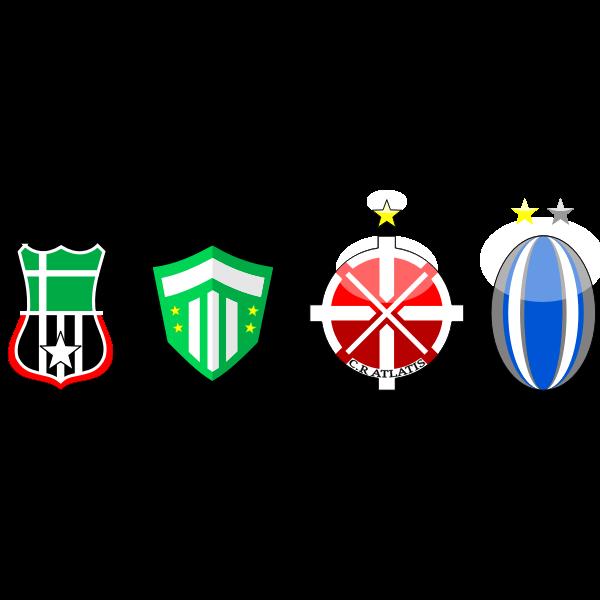 Four soccer emblems vector clip art