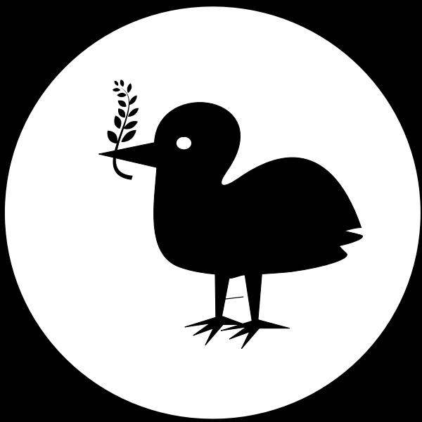 Peace bird silhouette vector image