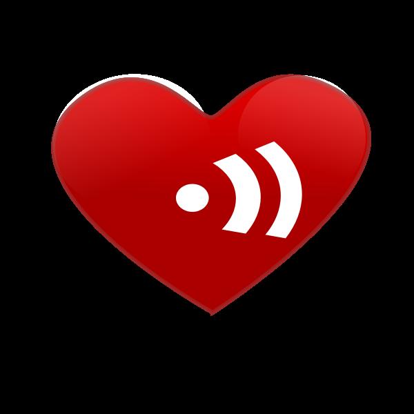 Heart beat sign vector clip art